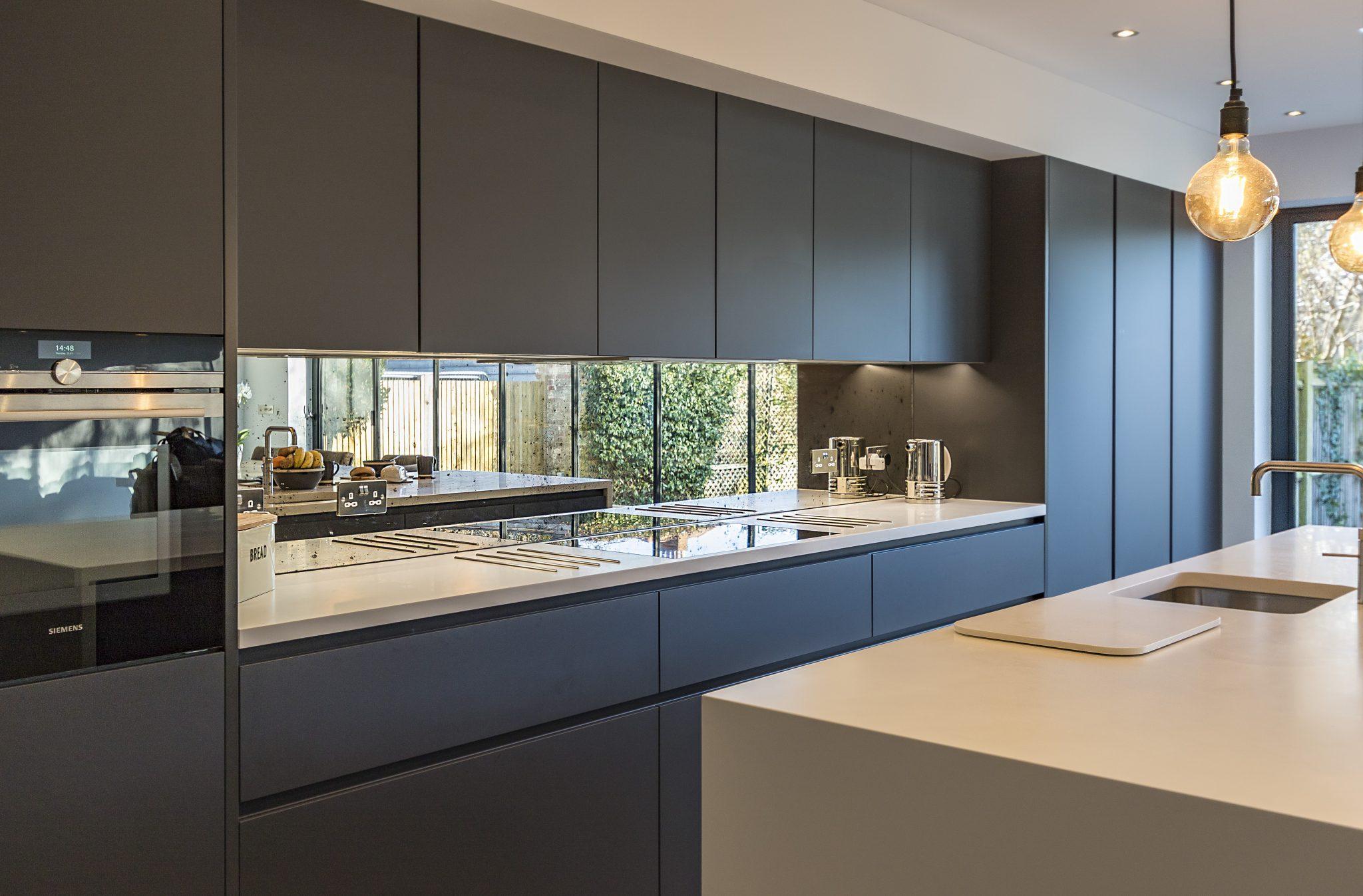 leicht kitchen carbon grey