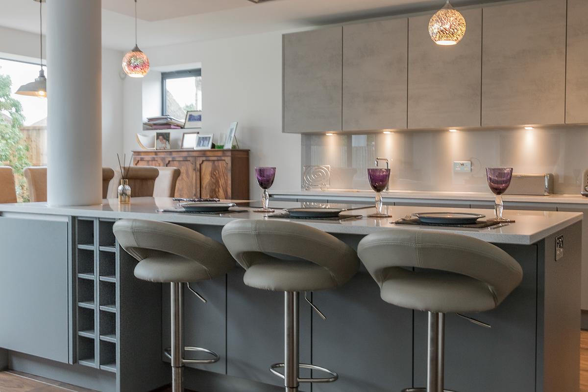 Nobilia Handleless Concrete Kitchen
