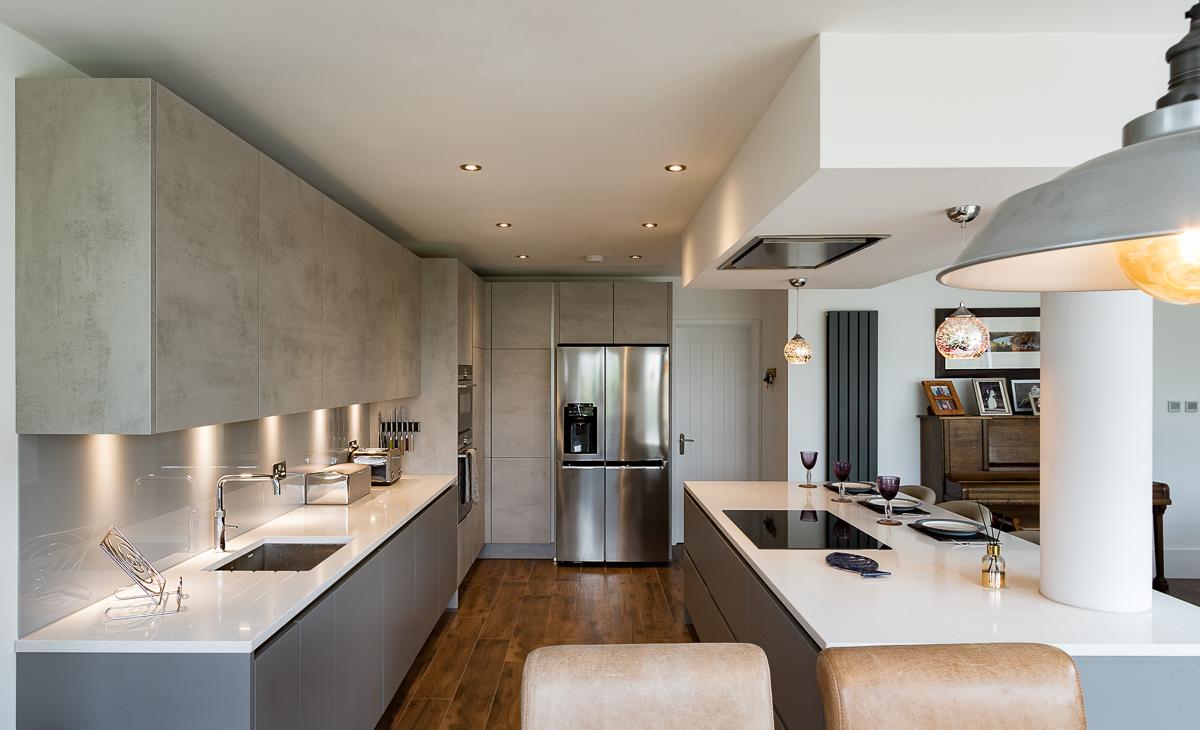 Nobilia Concrete Grey Handleless Kitchen