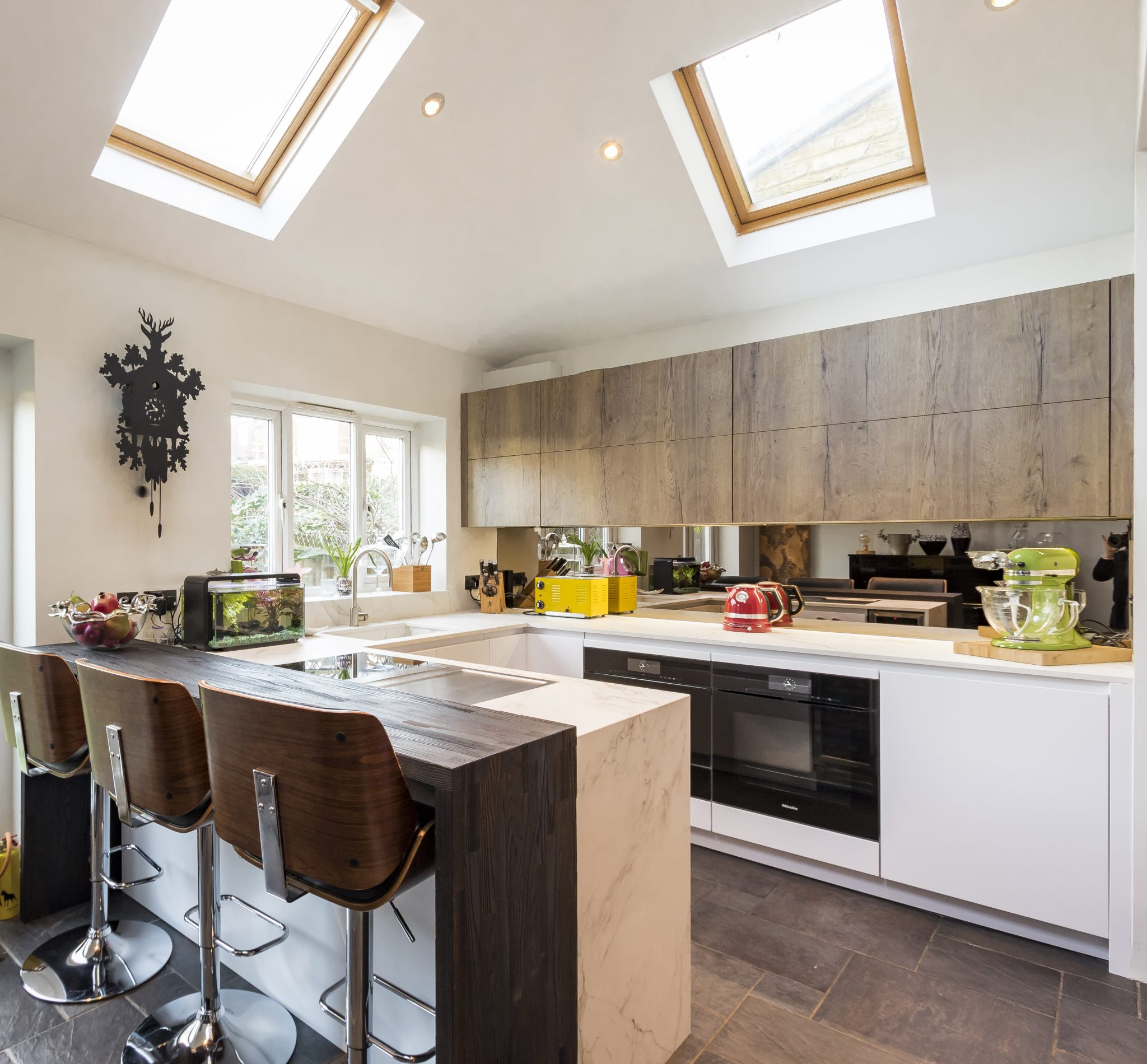 Leicht White And Oak Kitchen Teddington