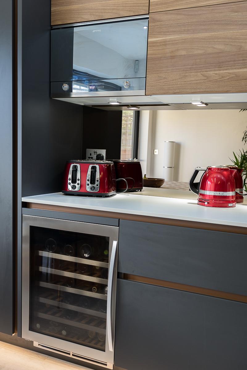 Leicht Carbon Grey And Walnut Kitchen Chiswick Richmond