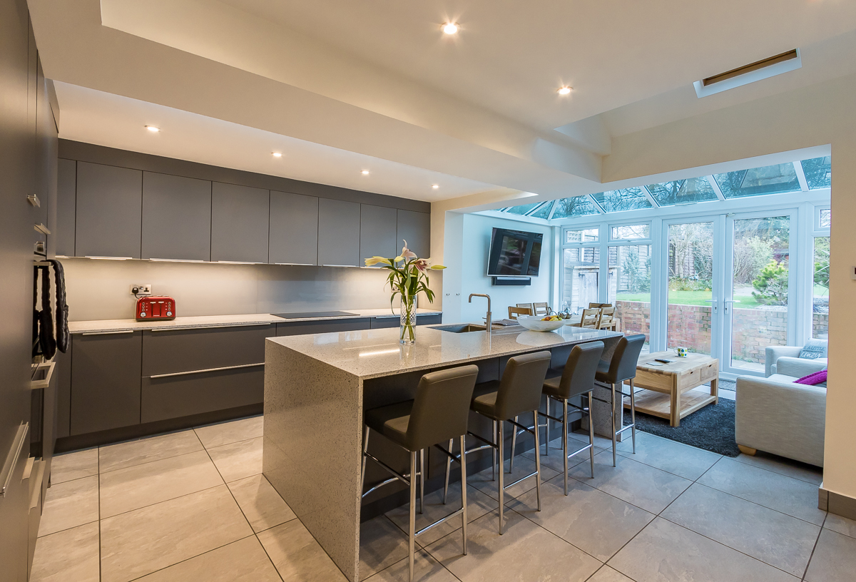 Nobilia SlateMineral Grey Kitchen Chessington Richmond Kitchens - Slate grey kitchen units