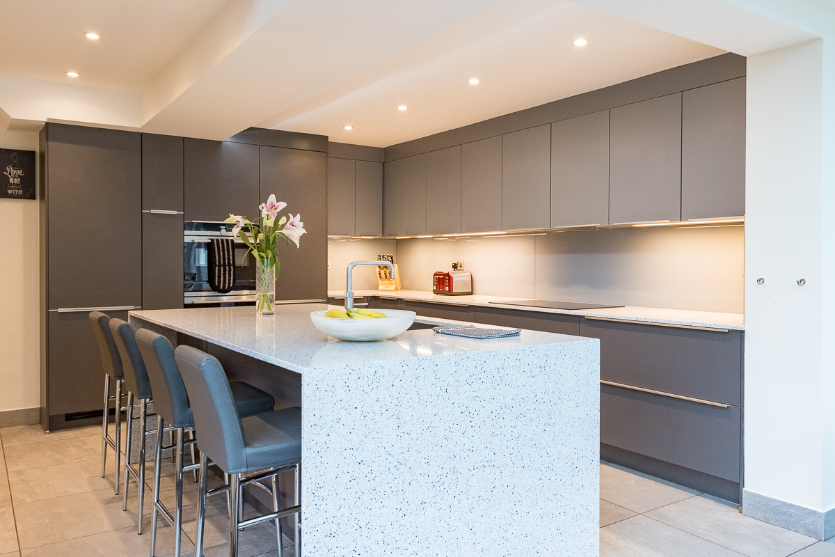 Nobilia Slate and Mineral Grey Kitchen Chessington
