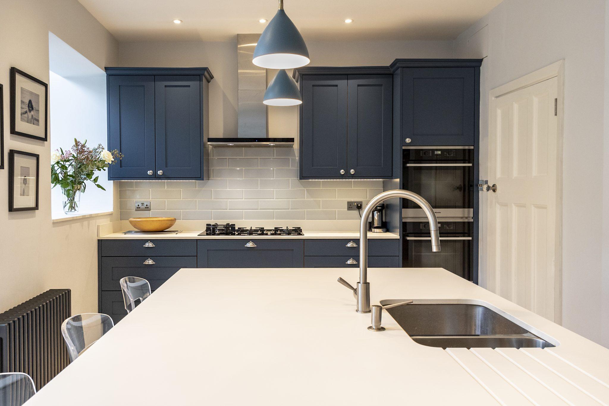 Stoneham Shaker-style Blue Kitchen, East Sheen