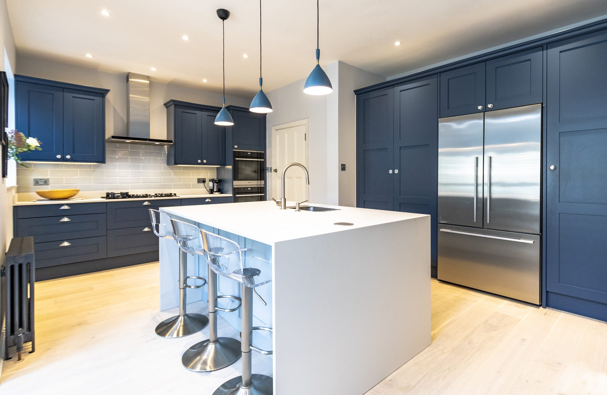 STONEHAM SHAKER-STYLE BLUE KITCHEN EAST SHEEN