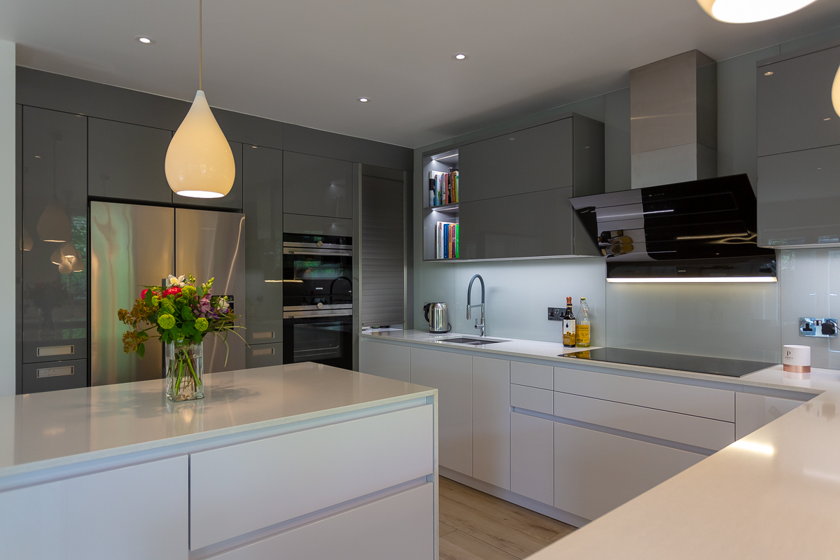 LEICHT ARTIC WHITE AND ALPINE GREY KITCHEN RICHMOND